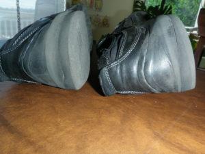 Wearing on Heels of Robert's Shoes Today